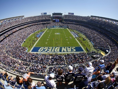Qualcomm Stadium - home of the San Diego Chargers - is less than 15 miles from the La Jolla Beach & Tennis Club.