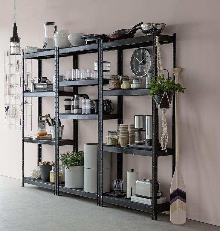 Stabil och lättmonterad förvaringshylla. #biltema #förvaringshylla #köksinspiration