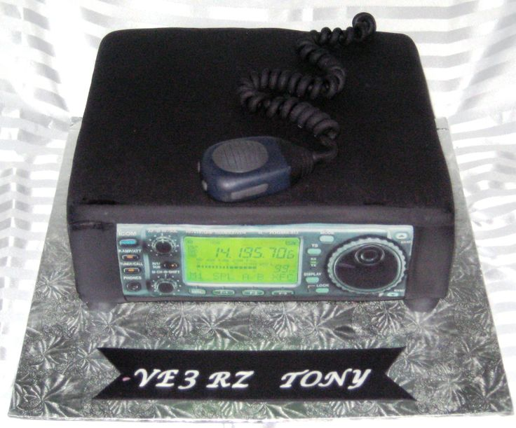 Ham Radio Cake Birthday Cakes Pinterest Radios Ham