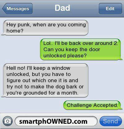 Challenge Acceptedツ #Humor #Funny #Text_Message