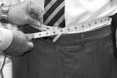 How to measure your waist size