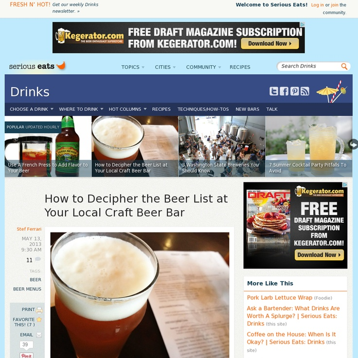 How to Decipher the Beer List at Your Local Craft Beer Bar
