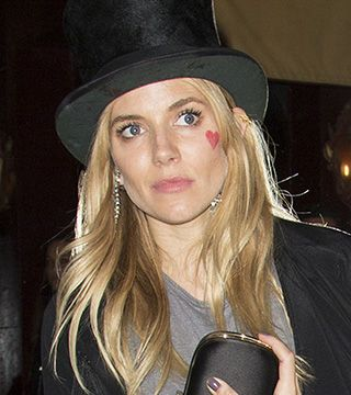 See Sienna Miller's Temporary Face Tattoo - Daily Makeover