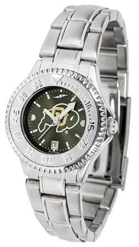 University of Colorado Buffaloes Women's Stainless Steel Dress Watch