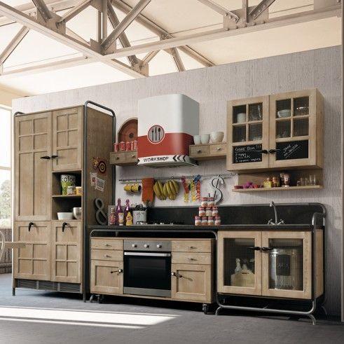 meuble evier cuisine. offerta cucina dialma brown hangar legno ...