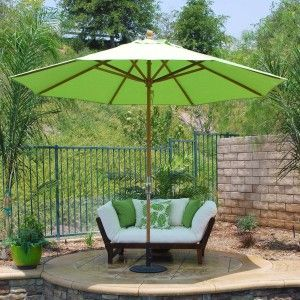 Large Patio Umbrellas Classic Teak
