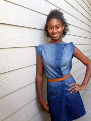 denimDress from old jeans