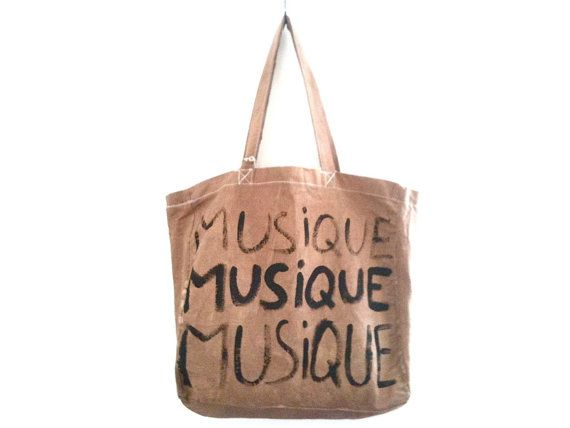 Musique Big Tote Bag / My Little French Shop by MyLittleFrenchShop, $89.00