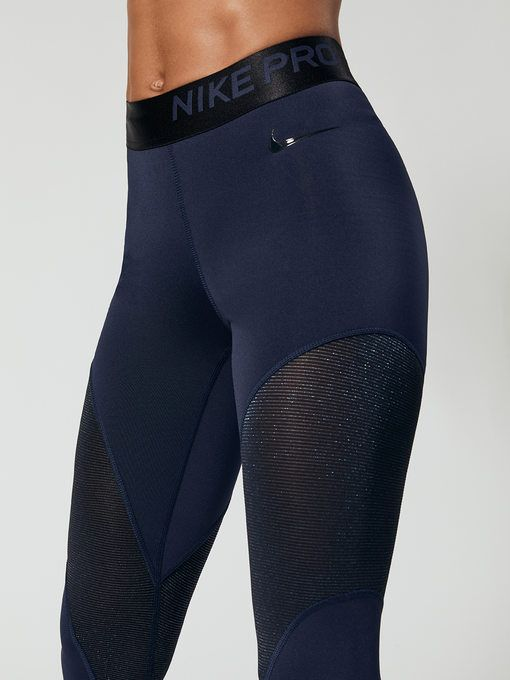 dbbef3454e0429 NIKE Nike Pro Warm Women's 7/8 Tights Obsidian/Black 7/8 LENGTH LEGGINGS