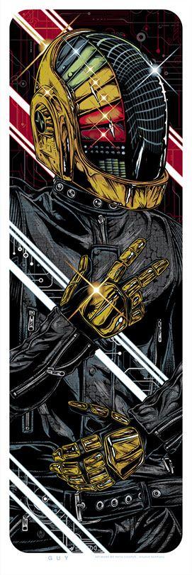 The Geeky Nerfherder: Cool Art: 'Daft Punk' by Rhys Cooper