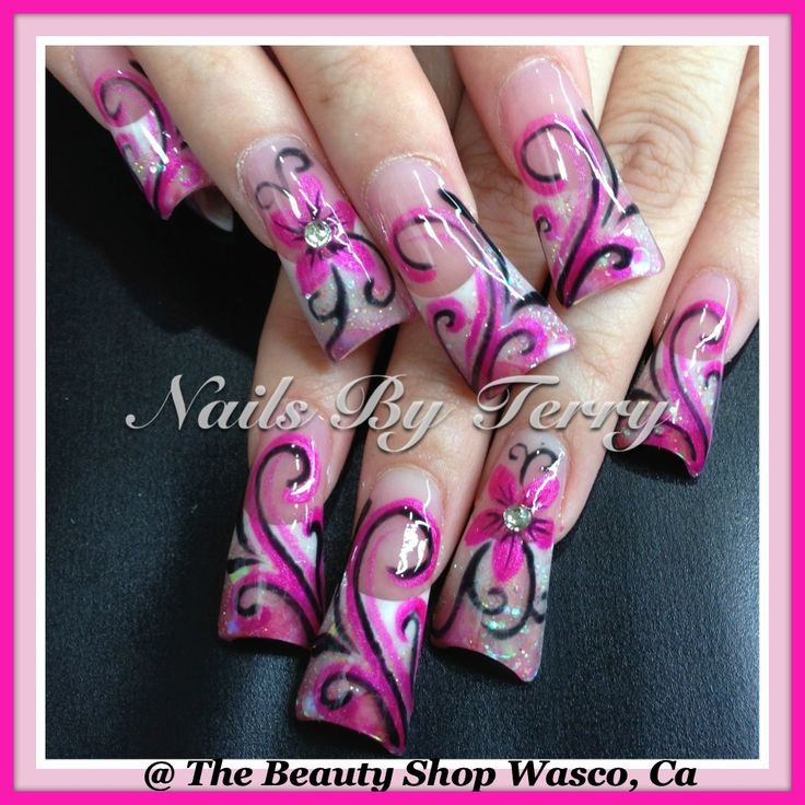 New Rockstar Acrylic Nail Designs: 41 Best Images About Acrylic Rockstar Nails On Pinterest