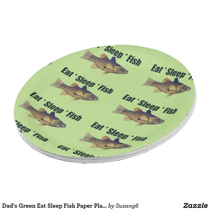 Dad\u0027s Green Eat Sleep Fish Paper Plates ...  sc 1 st  Pinterest & 96 best Paper Plates Cups and Napkins images on Pinterest | Paper ...