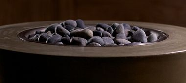 concrete fire bowl lava rock
