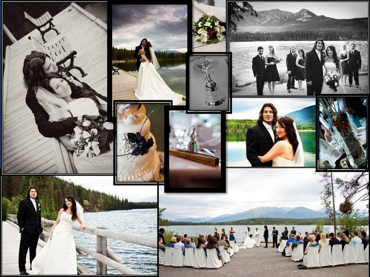 Our wedding at Pyramid Lake in Jasper, Alberta Canada. Beautiful setting, excellent accommodations and very reasonable cost! Worth it for a perfect day!