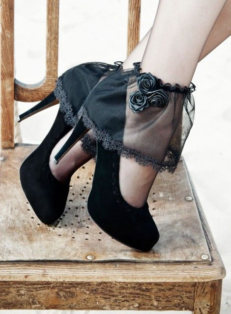 Guns And Roses High Heel Shoes