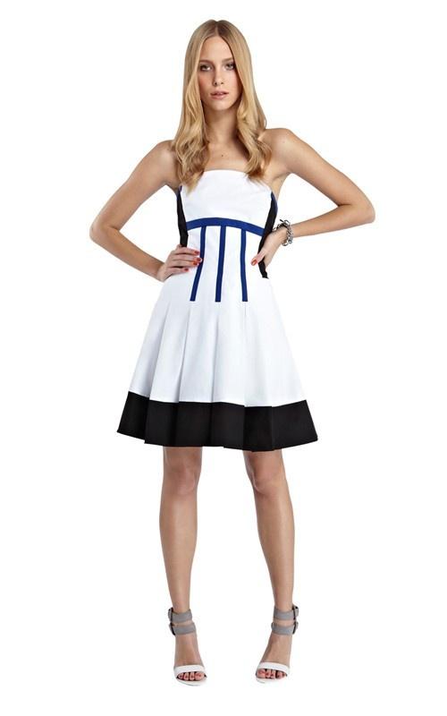 欧美女装英伦风 抹胸显瘦大摆连衣裙抹胸吊带裙 DL128-淘宝网