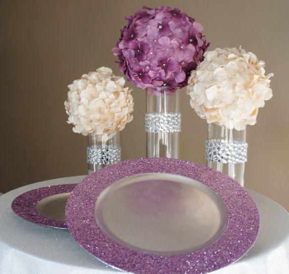 Best glitter centerpieces ideas on pinterest