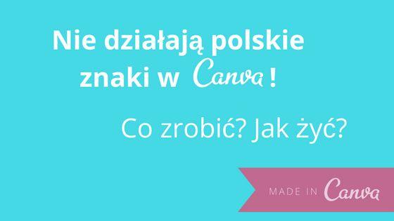 Nie działają Ci polskie znaki w CANVA.COM? Nie pokazują się gdy chcesz wpisać polskie literki z ALTem? Jest na to sposób - użyj tyldy! Kliknij i zobacz, jak to zrobić.   #canva #socialmedia #DIY #howto #krokpokroku #PaniSerwisantka #polskieznaki #tylda #strona #biznes