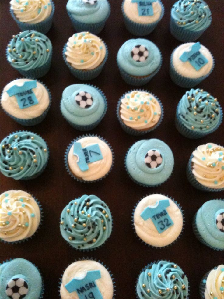 Manchester City Football Club Cupcakes For A Kids Birthday