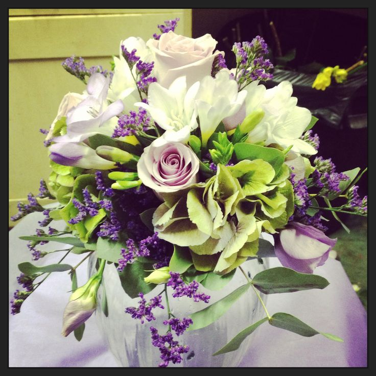 Bridal bouquet in a holder