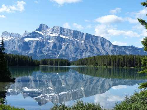 Two Jack Lake in Alberta, Canada.