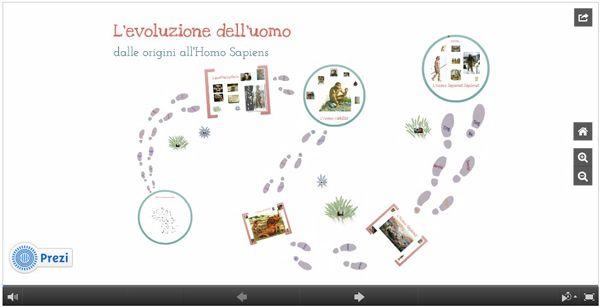 Dalle origini all'Homo Sapiens: una presentazione in digitale - 2013 - Education 2.0