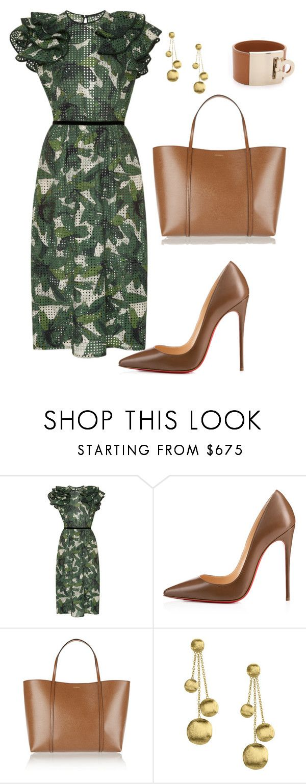 style theory by Helia by heliaamado on Polyvore featuring moda, Johanna Ortiz, Christian Louboutin, DolceGabbana, Marco Bicego e Salvatore Ferragamo
