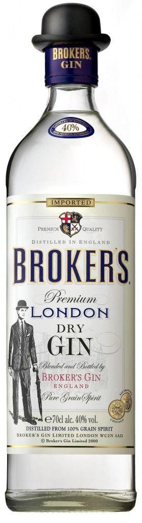Broker's London Dry Gin - 40%  London, England  www.brokersgin.com