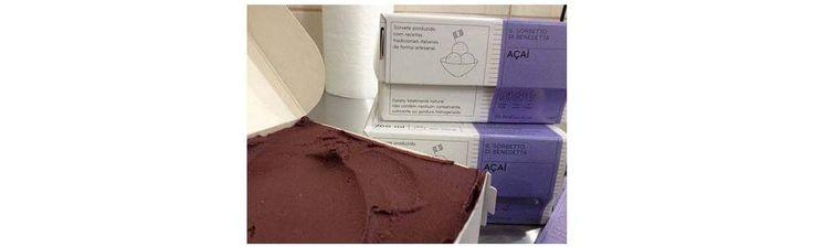 Embalagem em cartão com sorvete Il Gelato de Benedeta