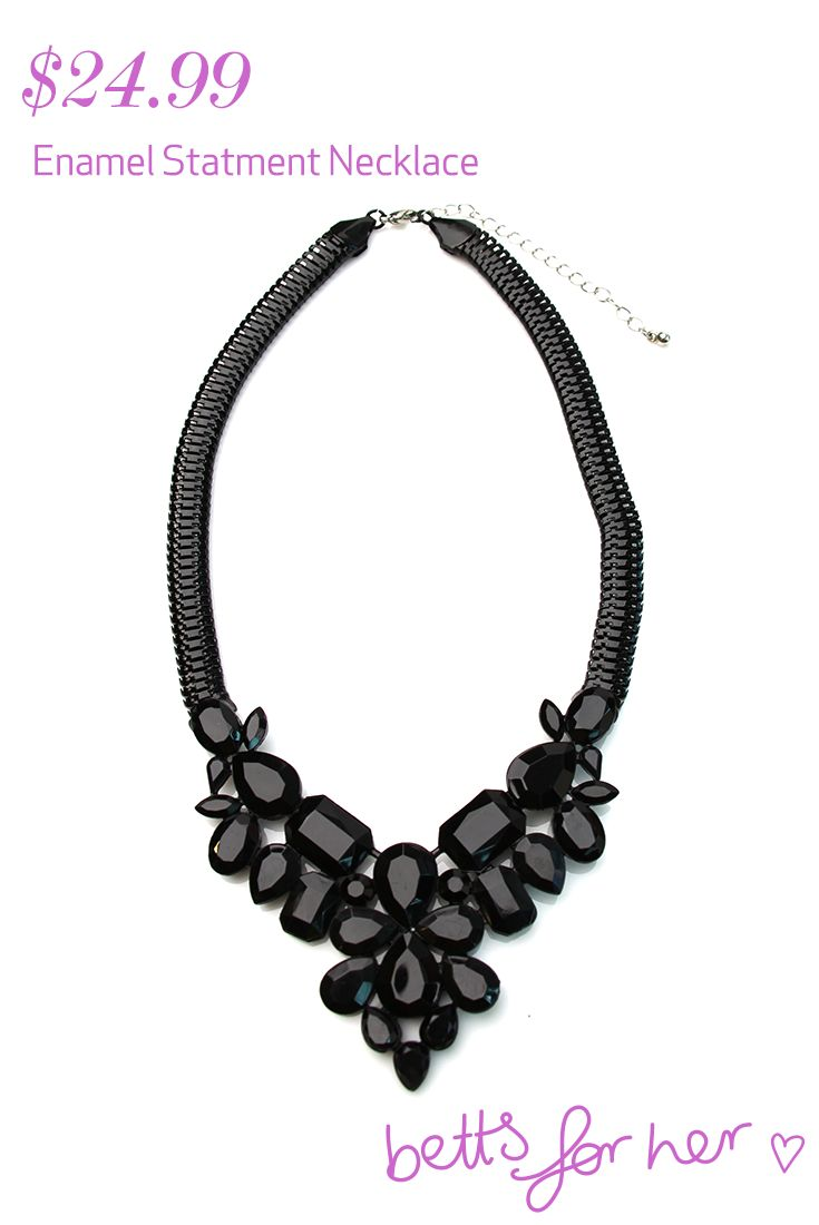 Enamel Statement Necklace $24.99 from the All Eyes On You collection - Betts for Her