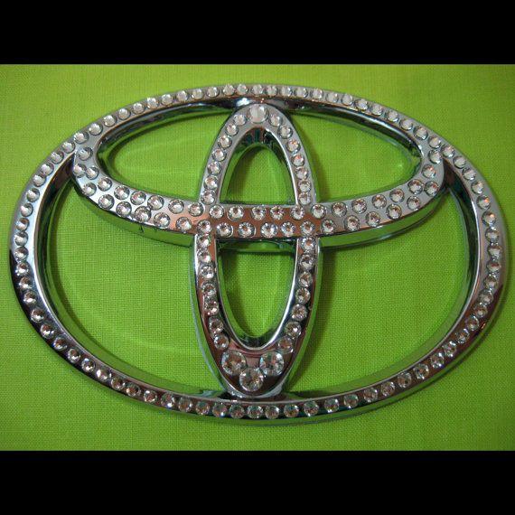 Crystal BLING TOYOTA emblem  with SWAROVSKI Crystals /  Crystal bling Toyota logo / shiny emblem / Toyota gift logo / girl driver
