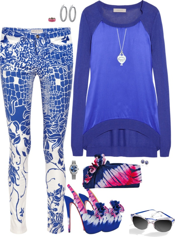 """""""True Blue Pucci"""" by riquee ❤ liked on Polyvore"""