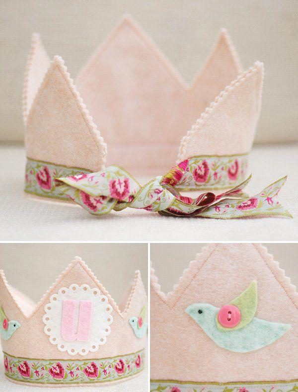 pink felt crown