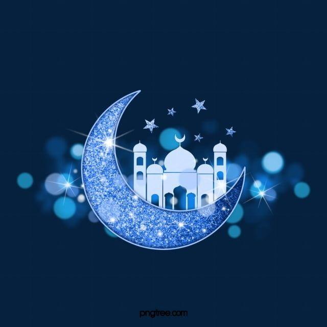 라마단 블루 문 장식 후광 라마단 달 후광무료 다운로드를위한 Png 및 Psd 파일 Creative Illustration Ramadan Kareem Decoration Creative Graphic Design