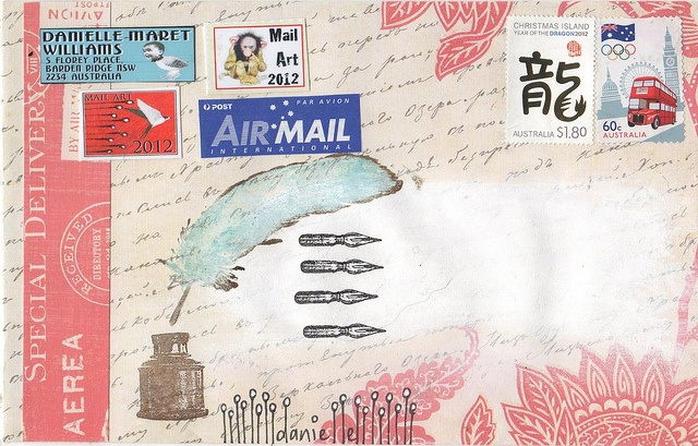 Danielle Maret - Mail art Envelope -198, via Flickr.