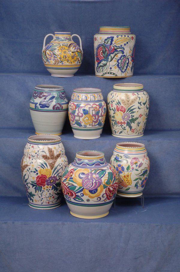 13 Best Deco Pottery Images On Pinterest Flower Vases Art Nouveau