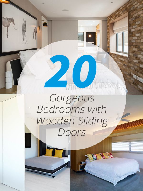 20 Gorgeous Bedrooms with Wooden Sliding Doors You can use wooden sliding doors for your bedrooms for easier access.     Like what we have mentioned before, sliding doors makes life easier – let me tell you a few things why I think that it actually does make life easier – especially at home. Fi...