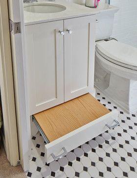 Bathroom idea--built in stool!  Bruce Graf - traditional - kids - dallas - Graf Developments