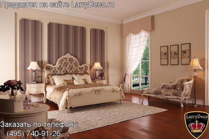 Мебель Италия Кровать в Классическом стиле выполнена из массива дерева L5 881B-1/ L5 881B-2 ( белая)