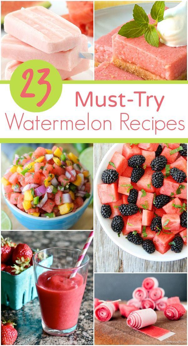 Healthy Summer Watermelon Recipes