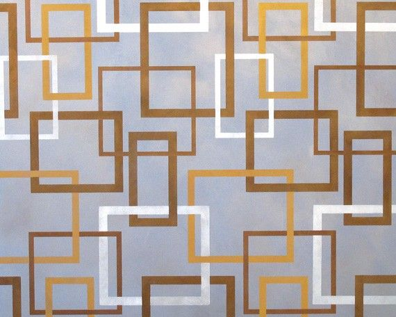 Modern Wall Stencil Hip To Be Square Allover Stencil For