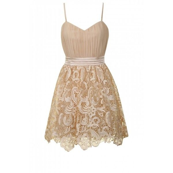 Cream Bandeau Lace Detail Puffball Prom Dress ($46) ❤ liked on Polyvore featuring dresses, vestidos, robes, short dresses, cut out prom dresses, cocktail prom dress, mini dress, prom dresses and bustier dress