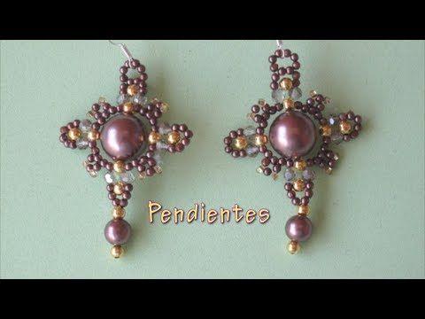(76) # DIY Pendientes en forma de cruz # DIY Cross-shaped Earrings - YouTube
