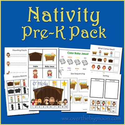 Free Pre-K Nativity Printable Pack