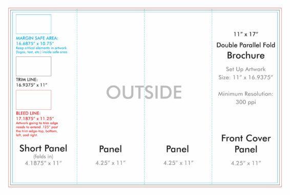 11 X 17 Double Parallel Brochure Template U S Press With Regard To 4 Fold Brochure Template Crea Brochure Template Free Brochure Template Brochure Folds