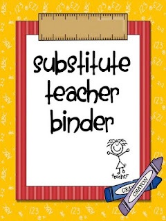 Substitute Binder Cover and Section Ideas