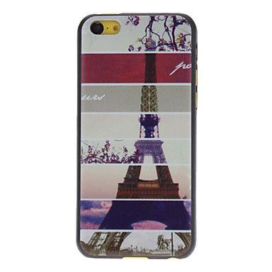 Diseñado caso duro especial de la torre Eiffel Patrón para iPhone 5C – USD $ 3.99