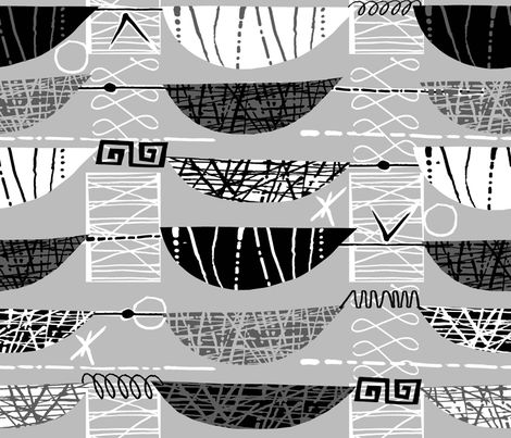 Mod Graphic Black and White fabric by chicca_besso on Spoonflower - custom fabric