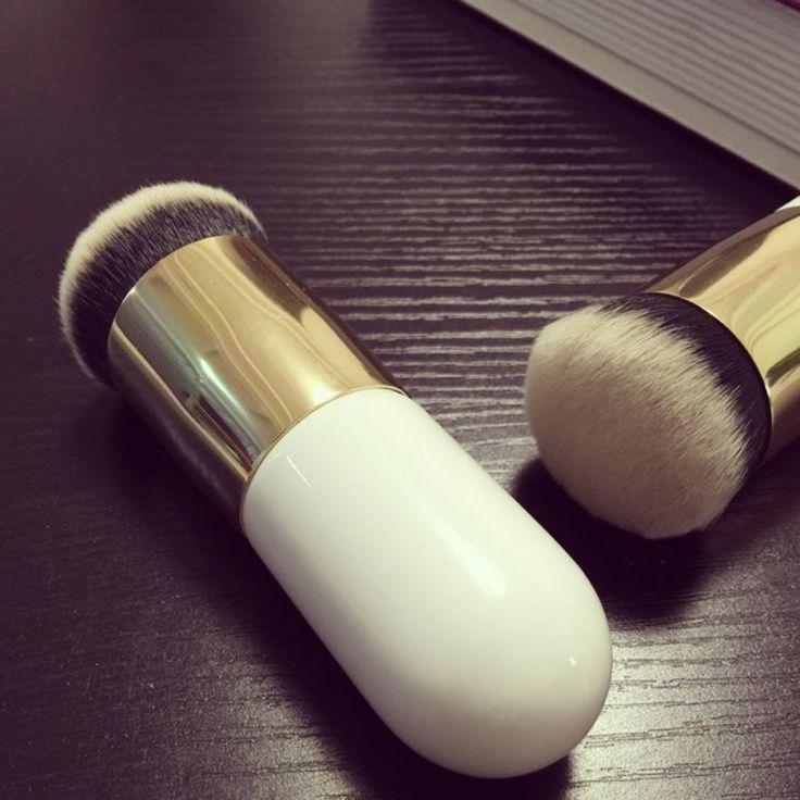 Chubby Molo Fundacja Szczotki Płaskie Cream Makeup Szczotki Profesjonalne Kosmetyki Make-up Szczotki