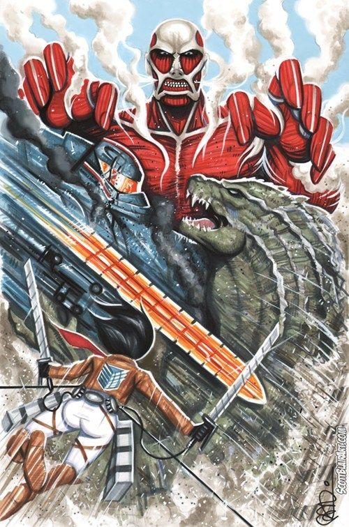 Attack on Titan meets Godzilla meets Pacific rim. AWSOME #Godzilla #Pacificrim #AttackonTitan